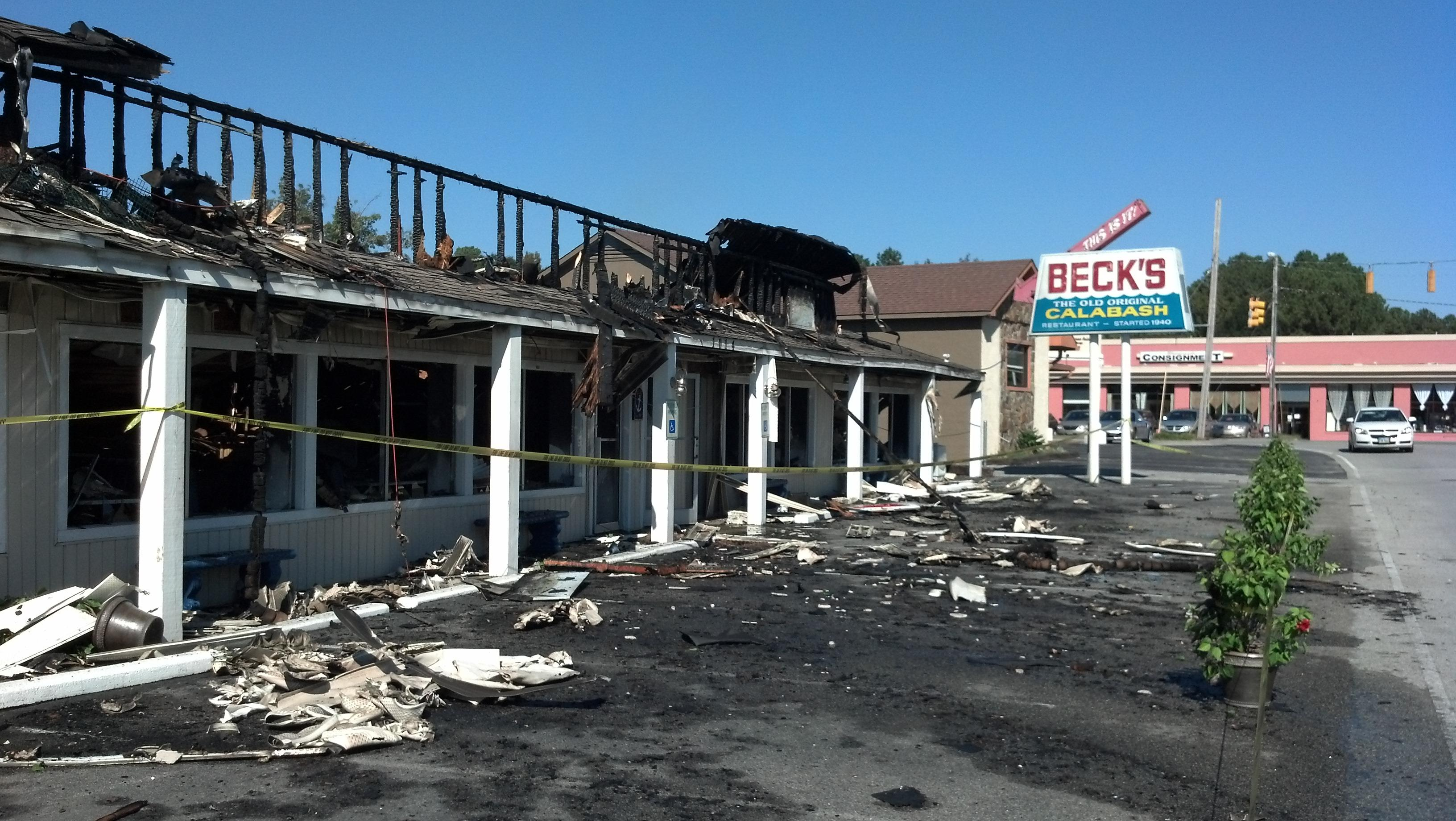 A Blaze Burned Down An Iconic Calabash Restaurant October 22nd Leaving The Structure Ruined And Forcing Eatery To Close Its Doors At Least For